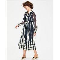 Genevieve Midi Shirt Dress Navy Women Boden, Navy