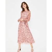 Kyra Silk Midi Dress Pink Women Boden, Pink