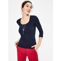 Double Layer Front Tee Navy Women Boden, Navy
