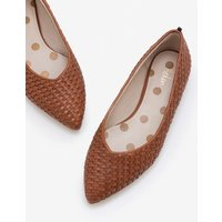 Hazel Woven Flats Brown Women Boden, Tan