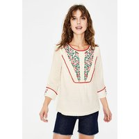 Kelsey Embroidered Blouse Ivory Women Boden, Ivory