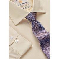 "35"" Sleeve Lemon End on End 100% Easycare Cotton Single Cuff Shirt"