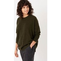 Cashmere Gauzy Tunic Forest and sand