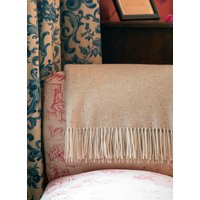 Cashmere Woven Blanket Oatmeal