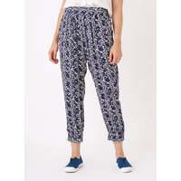 Painterly Leaf Joggers Navy