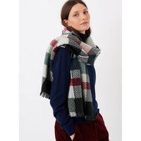 Merino and Cashmere Patchwork Stole Ivy and ruby