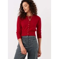 Cashmere Cropped Cardigan Ruby