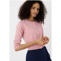 Cashmere Cropped Cardigan Shell