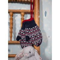 Cashmere Fair Isle Mittens French Navy