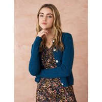 Cashmere Donegal Cardigan Peacock