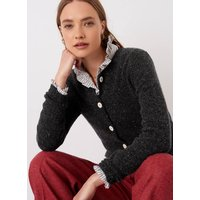 Cashmere Donegal Cardigan Charcoal