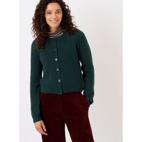 Cashmere Ribbed Cardigan Ivy