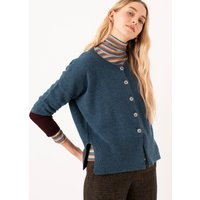 Cashmere Slouchy Contrast Cuff Cardigan Dusk and damson