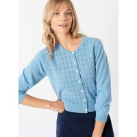 Cashmere Pointelle Cardigan Periwinkle
