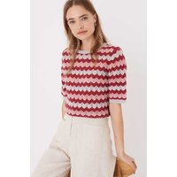 Cashmere Wave Knit T-Shirt Pearl