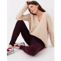 Cashmere Pull On Joggers Damson