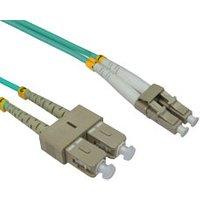 10m OM3 LC-SC 50/125 Fibre Cable Aqua sale image