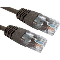 0.25m Brown Ethernet Cable Full Copper 26AWG