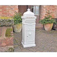 Regent Post Box - White