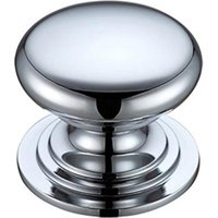 Victorian Cabinet Knob - Polished Chrome