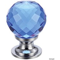 Facetted Blue Glass Cabinet Knob