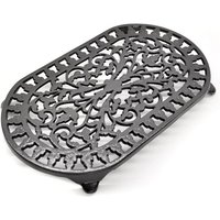 Large Oval Trivet - Heat Resistant To Use On Woodburning Stoves