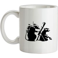 Banksy - guerilla rats mug.