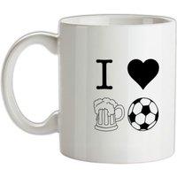 I Heart Beer and Football mug.