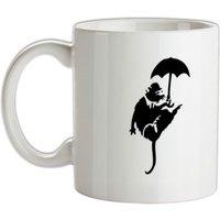 Banksy Flying Rat mug.
