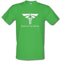 Believe In The Fireflies male t-shirt.