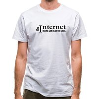On the internet no one can hear you sigh! classic fit.