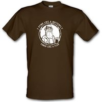 Si - I Sting Like A Butterfly Punch Like A Flea male t-shirt.