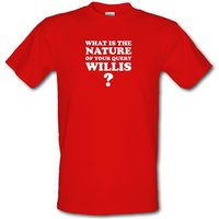What is the nature of your query Willis? male t-shirt.