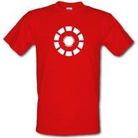 Arc Reactor Iron Man Male T-shirt.