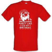 Party Like It's My Birthday Xmas male t-shirt.