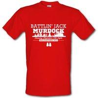 Battlin' Jack Murdock male t-shirt.