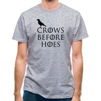 Crows Before Hoes classic fit.