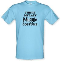 This is my Lazy Muggle Costume male t-shirt.