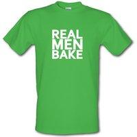 Real Men Bake male t-shirt.