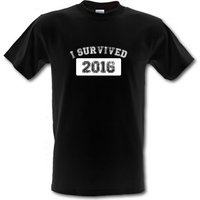 I Survived 2016 male t-shirt.