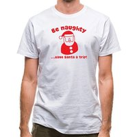 Be naughty...save Santa a trip! classic fit.
