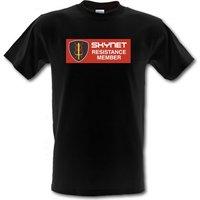 Skynet Resistance Member male t-shirt.