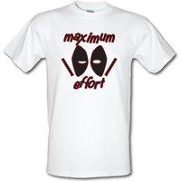 Maximum Effort male t-shirt.