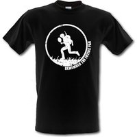 Remember the Frying Pan male t-shirt.