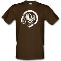 DJ Headphones male t-shirt.