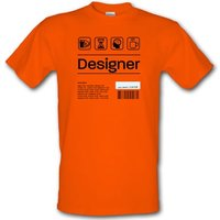 Designer Ingredients male t-shirt.
