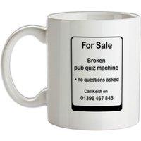 Broken Pub Quiz Machine mug.