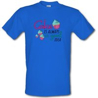 Cake Is Always A Good Idea male t-shirt.