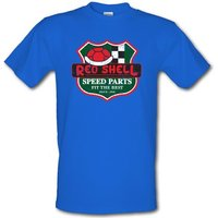 Red Shell Parts male t-shirt.