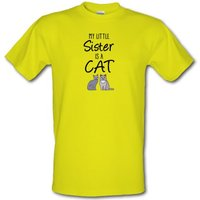 My Little Sister Is A Cat male t-shirt.